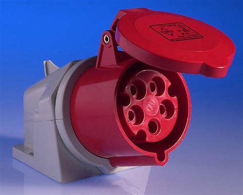 amp  pin wall socket red