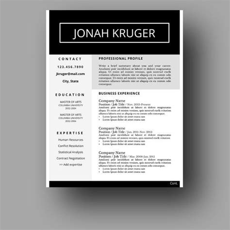 Etsy Resume Template 127 Best Resume Templates Etsy Images On