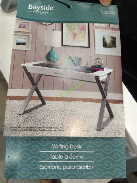 bayside furnishings white wood desk costco 722459 bayside furnishings white wood desk pic