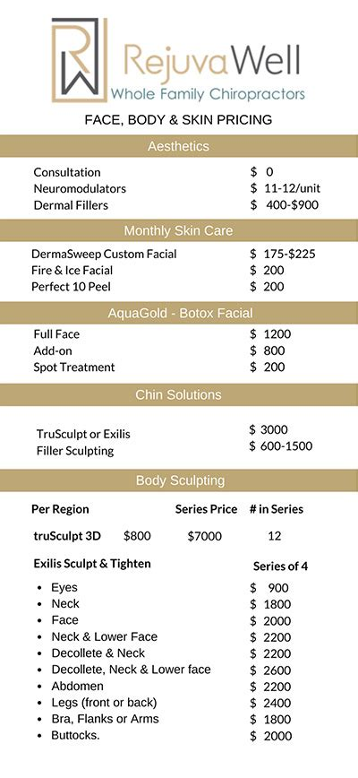 Medical Spa Pricing Austin | RejuvaWell