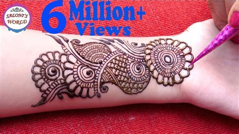 easy simple arabic henna gol tikki easy designs
