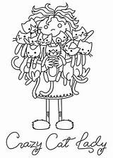 Cat Lady Crazy Clipart Embroidery Urbanthreads Coloring Cats Patterns Paper Urban Threads Unique Pattern Colouring Animals Embrace Dogs Drawing Awesome sketch template