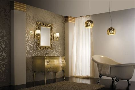 Trendy Bathroom Designs In Gold
