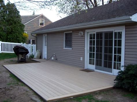 trex deck cement composite decking from home