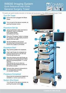 Conmed Im8000 Imaging System General Surgery Tower Quick