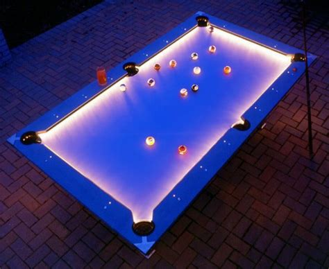 Outdoor Pool Table With Cool Lighting  Coolest Photos