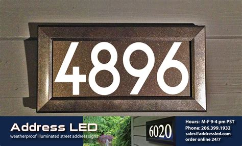 address led expands their lighted street address product