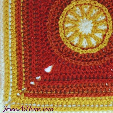 flame square  crochet pattern jessie  home