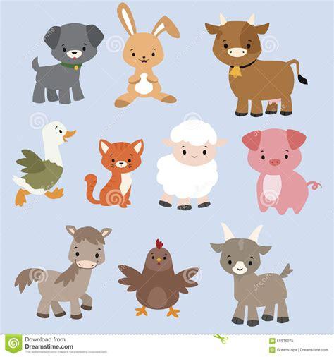 animal characters stock vector illustration  cheerful