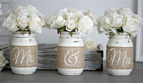 Rustic Wedding Table Decorrustic Bridal And Engagement T