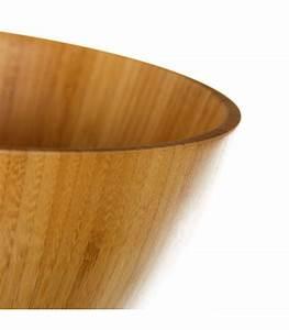 Couvert En Bambou : saladier en bambou avec couverts de service ~ Teatrodelosmanantiales.com Idées de Décoration