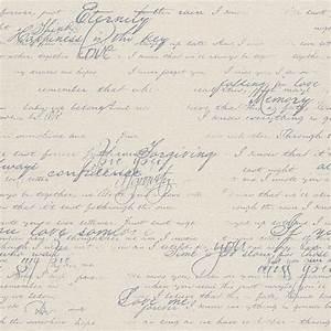 vliestapete rasch florentine schriftzug vintage grau 449587 With balkon teppich mit rasch tapete schrift