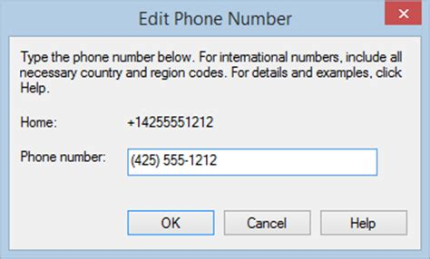 us international phone code edit phone number office support