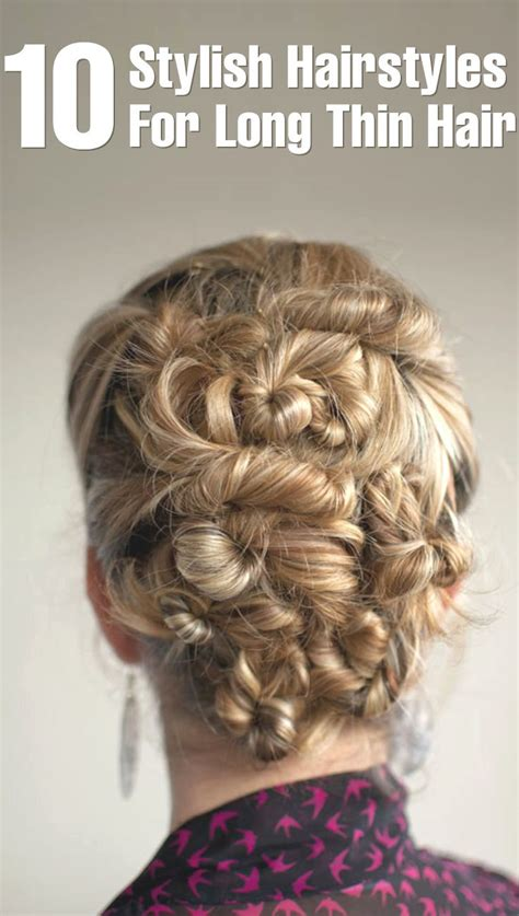 stylish hairstyles  long thin hair long thin hair