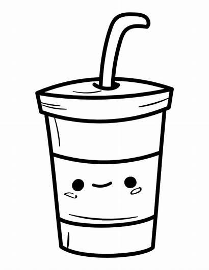 Coloring Drink Kawaii Printable Popular