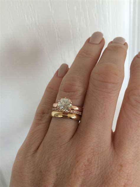 luxury how to wear engagement and wedding rings together matvuk com