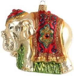 indian elephant glass ornament made in poland decoration ebay