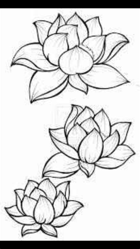 Outline Mandala Tattoo Drawings Lotus Flower - Best Tattoo Ideas