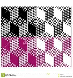 Monochrome Seamless 3d Cube Pattern Stock Vector - Image ...