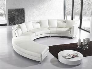 Canapé Angle Arrondi : le canap design italien en 80 photos pour relooker le salon ~ Teatrodelosmanantiales.com Idées de Décoration