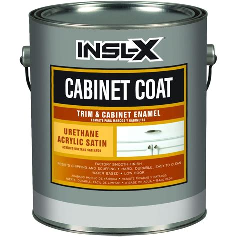 Kitchen Cabinet Paint Clear Coat Finish by Cabinetcoat 1 Gal White Trim And Cabinet Interior Enamel