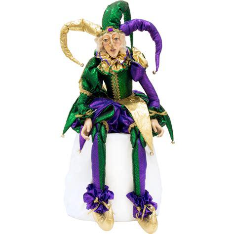 life sized mardi gras jester doll  xn