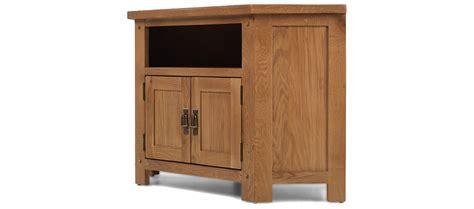 cottage style living room rustic oak corner tv cabinet quercus living