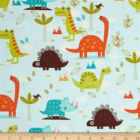 home decor fabric home decor dinosaur blue discount designer