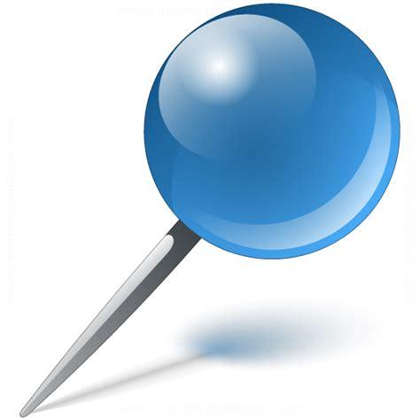 IconExperience » V-Collection » Pin Blue Icon
