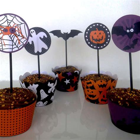 printable halloween cupcake toppers creative center