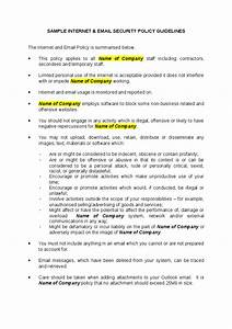 corporate email policy sample free printable documents With company email policy template