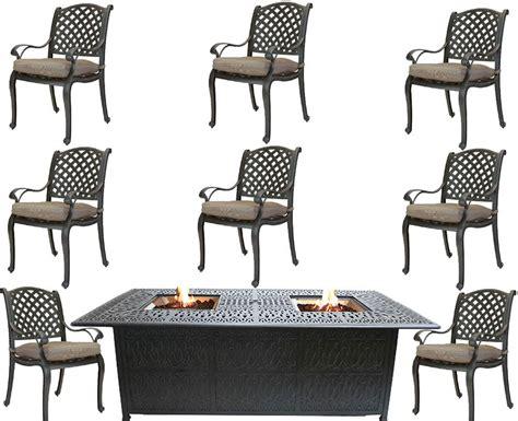 Propane Fire Pit Table Cast Aluminum Patio Furniture 9