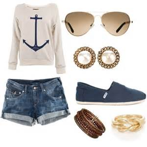 Cute Summer Shirts with Anchors