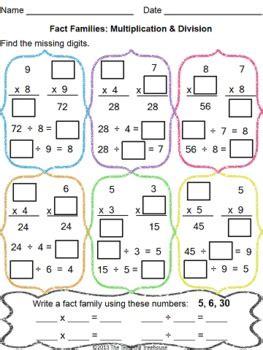 multiplication division   teaching treehouse tpt