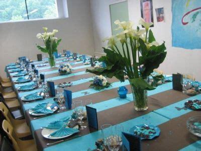 decoration fete deco de table pour communion garcon