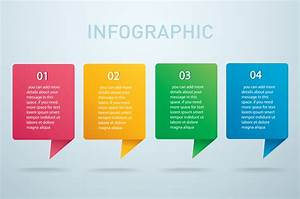 Square Info Graphic Vector Template With 4 Options Can Be