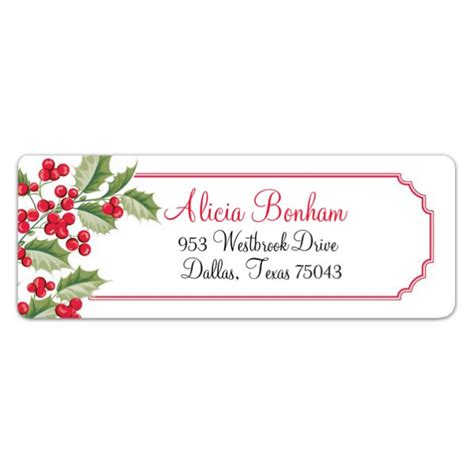 Holiday Watercolor Return Address Labels