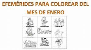 Efemérides del mes de enero para colorear Educación Primaria