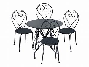 Table Et Chaise Jardin : table 4 chaises jardin fer forg guermantes anthracite ~ Teatrodelosmanantiales.com Idées de Décoration