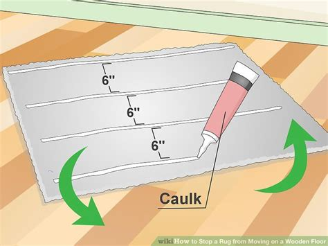 Stop Rugs Moving by 3 Ways To Stop A Rug From Moving On A Wooden Floor Wikihow