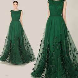womens bridesmaid dresses fashionable zuhair murad evening dress 2015 emerald green tulle cap sleeve dresses