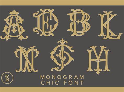 monogram chic font  fonts collection dribbble dribbble