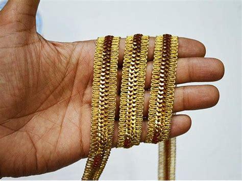 gold indian trims  ribbon sequin lace sari border trim