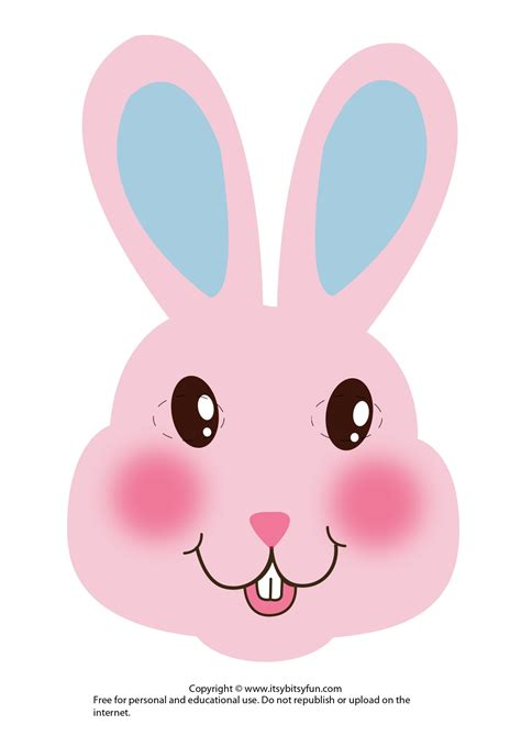 easter masks bunny rabbit  chick template itsy