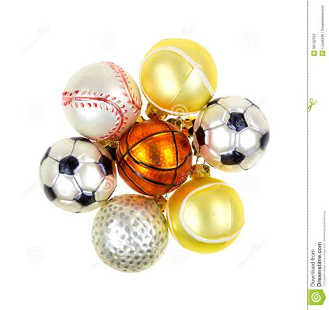 sports christmas ornaments stock photography image 36162762