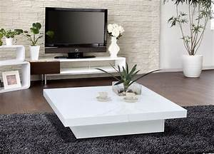 large contemporary white coffee table attractive With big white coffee table