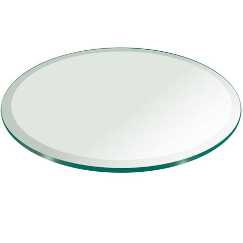 thick glass table top 48 quot round tempered glass table top 1 4 quot thick w 1