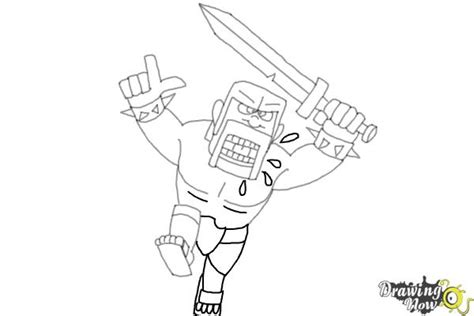 draw  barbarian  clash  clans drawingnow