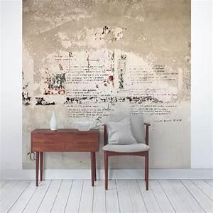 Tapete Mit Sprühkleber : tapete betonoptik alte betonwand mit bertolt brecht ~ Lizthompson.info Haus und Dekorationen
