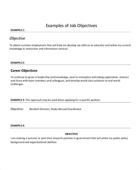 job objectives on a resumes 18 sample resume objectives pdf doc free premium